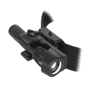 Holders for tactical police flashlights