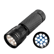 Flashlight with super bright LED diode