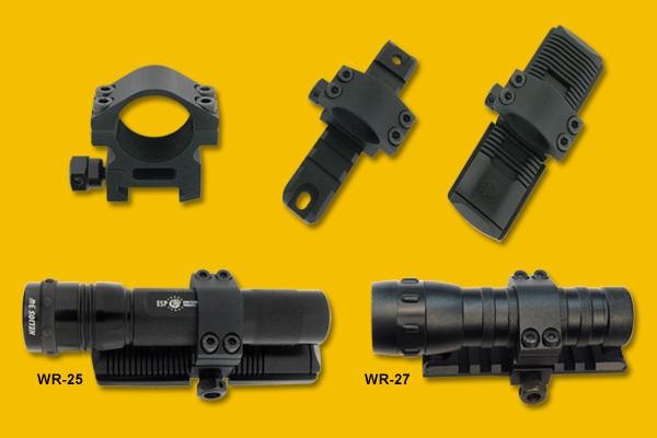WR-25 / WR-27 Assembly for tactical flashlight