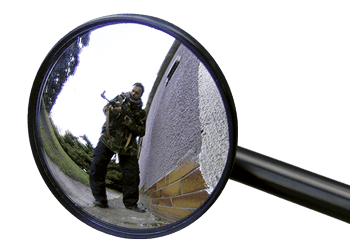Tactical mirror for expandable baton M-2