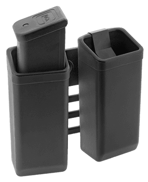 Double plastic swiveling holder for two magazines 9mm Luger