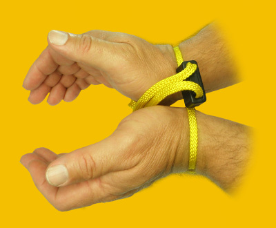 Textile disposable handcuffs HT-01