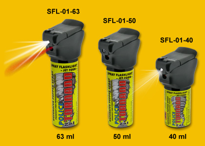 SFL-01 Spray Flashlights POLICE TORNADO (product for professional purpose)